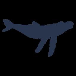 Silueta de animal marino de ballena azul