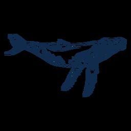 Golpe de ballena azul