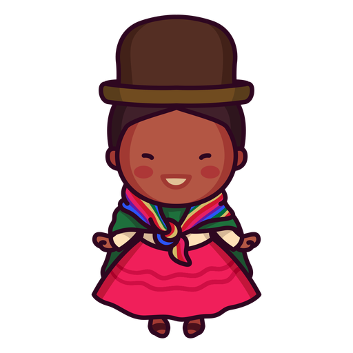 Bolivian traditional woman