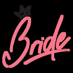 Diseño de corona de letras de novia