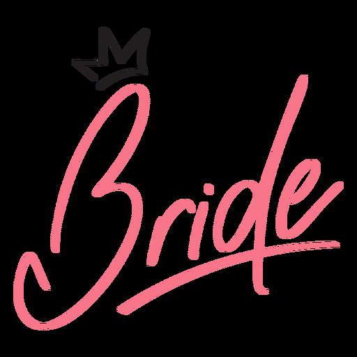 Desenho de coroa de letras de noiva