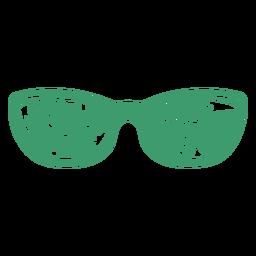 Gafas de sol extragrandes ojo de gato diseño tropical plana