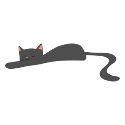 Cat sleeping flat