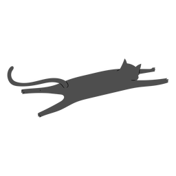 Cat stretching flat design