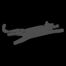 Gato estirando diseño plano