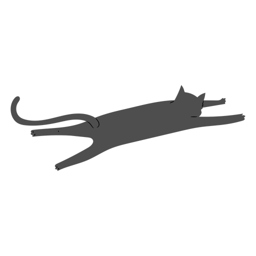 Cat alongamento design plano