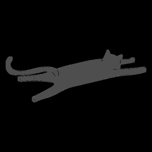Cat stretching flat design
