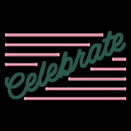 Celebre citar rayas en cursiva