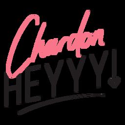 Cita de chardon hey party