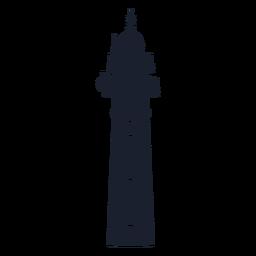 Klassische konische Leuchtturm-Silhouette