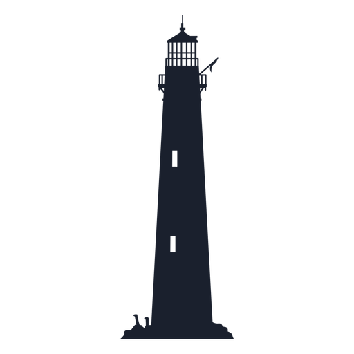 Classic lighthouse building silhouette