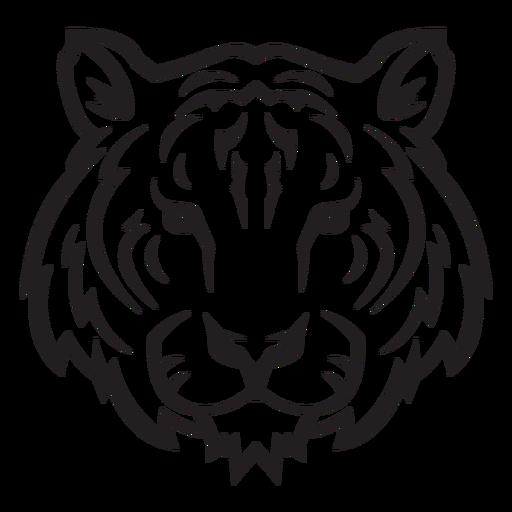 Trazo clásico de cabeza de tigre