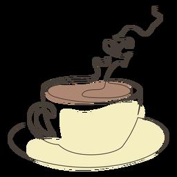 Golpe de platillo de taza de café