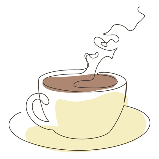 Coffee cup saucer stroke Transparent PNG