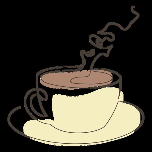 Curso de pires de xícara de café