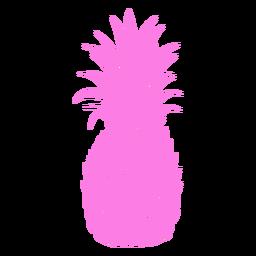Silhueta realista de abacaxi colorido
