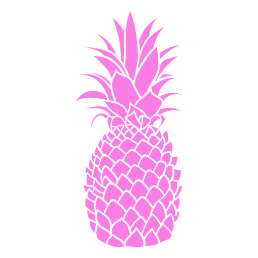 Colorful pineapple realistic silhouette