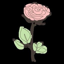 Colorido dibujo lineal rosa