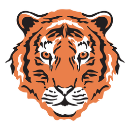 Curso de cabeça de tigre colorido