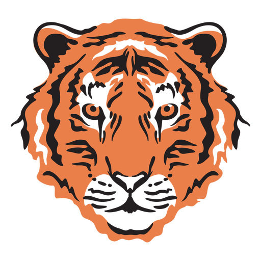 Trazo de cabeza de tigre colorido