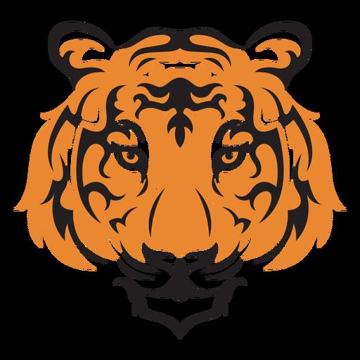 Traço colorido de tigresa na cabeça