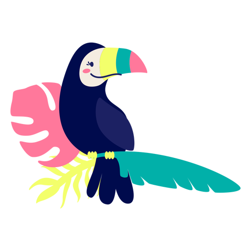 Colorful toucan tropical bird elemeent