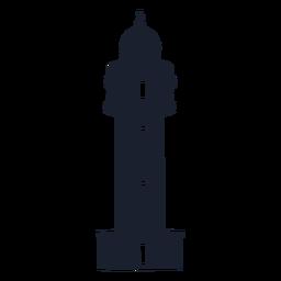 Silueta superior del faro cónico