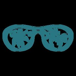 Frescas gafas de sol redondeadas planas