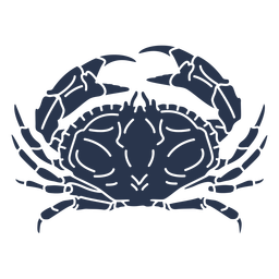 Crab silhouette ocean animal