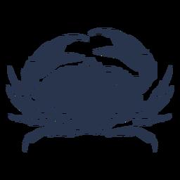 Silhueta de caranguejo animal do oceano