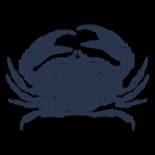 Cangrejo silueta océano animal