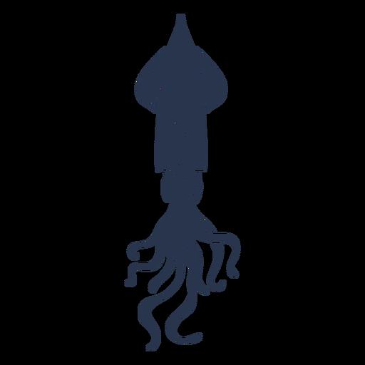 Cuttlefish mollusc silhouette Transparent PNG