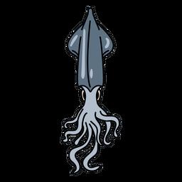 Cuttlefish mollusc stroke
