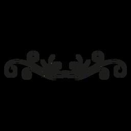 Decoración de encaje diseño florido