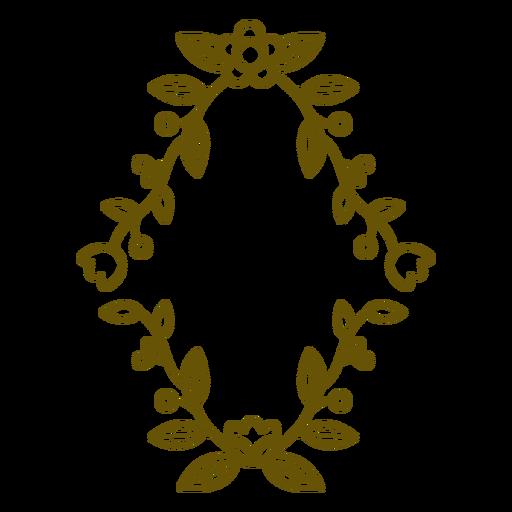 Diamond figure frame decoration stroke