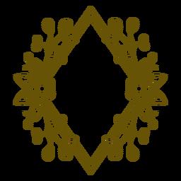 Diamond frame figure ornament stroke
