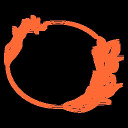Quadro de ornamento oval figura geométrica desenhada