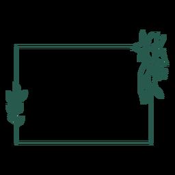 Vinil quadrado de ornamento desenhado