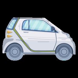 Diseño plano de coche ecológico