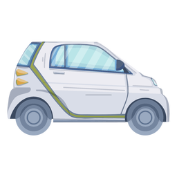 Eco car flat design