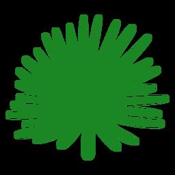 Mão de folha de palmeira fã desenhada