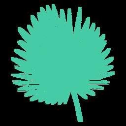 Silhueta de folha de palmeira de fã