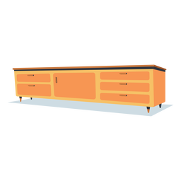 Flat low shelf furniture
