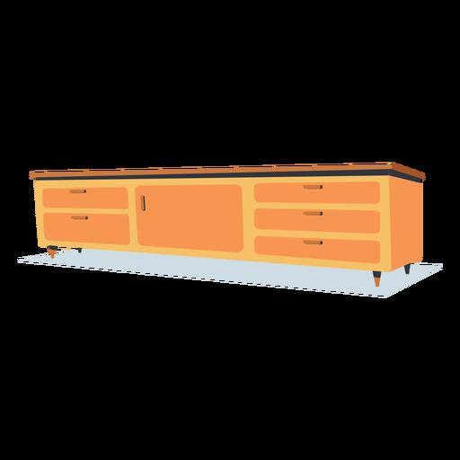 Flat low shelf furniture