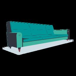 Sofá plano de estilo moderno