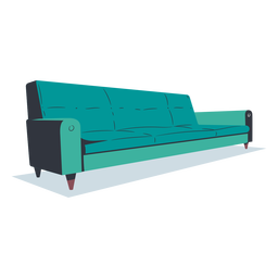 Sofá plano estilo moderno