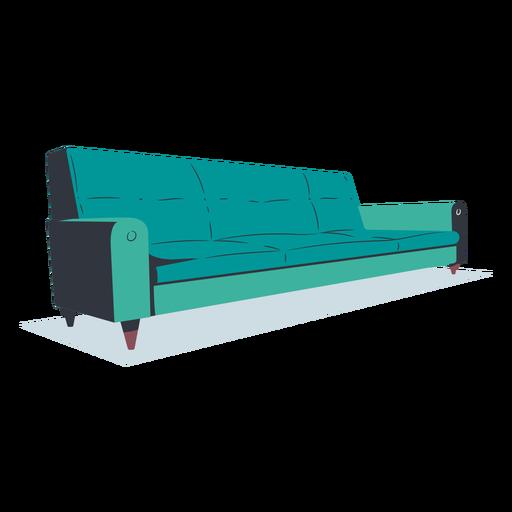 Flat sofa modern style Transparent PNG