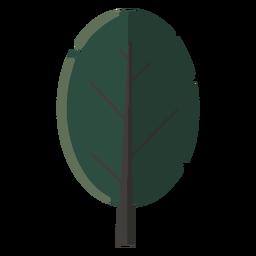 Desenho abstrato árvore plana
