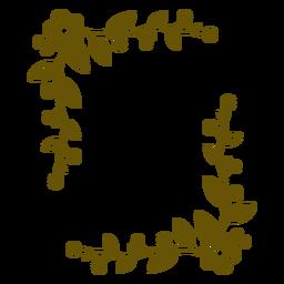 Diseño de trazo frondoso de marco floral