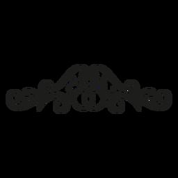 Design de rendas de padrão floral